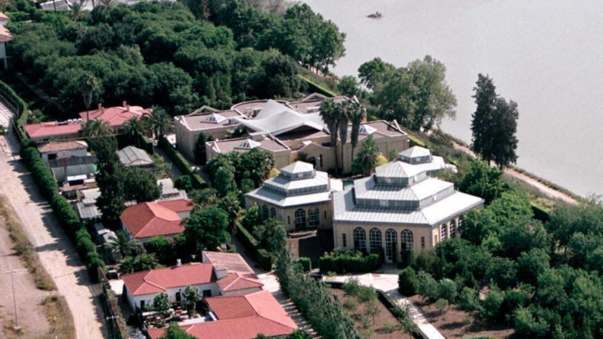 Vista aérea del Jardín Botánico de Córdoba.