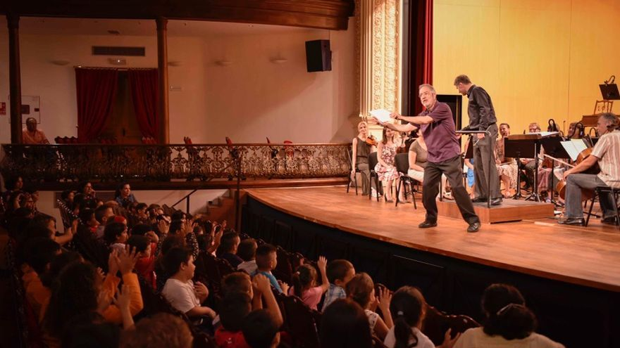 Imagen de archivo de un concierto educativo del Festival de Música 2016 de La Palma. Foto: ACAPO.