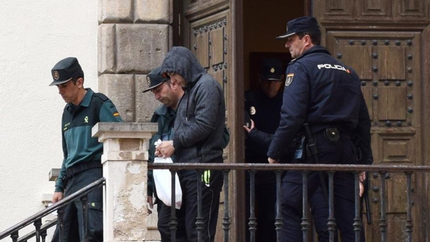 Sergio Morate, el pasado jueves, saliendo de la Audiencia Provincial de Cuenca