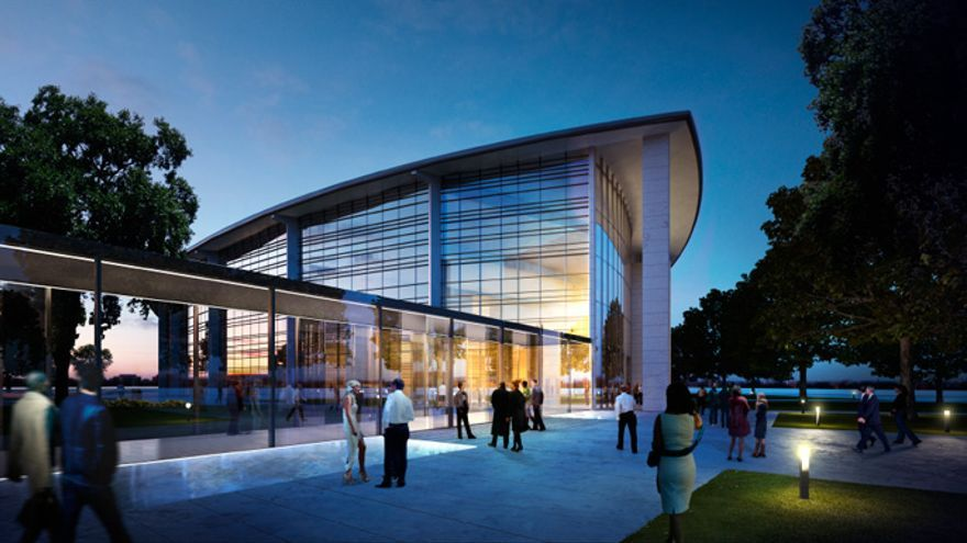 Imagen del futuro edificio del Palacio de Congresos ofrecida en la presentación del proyecto
