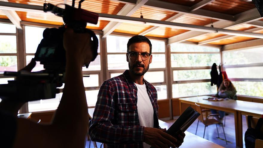 Daniel Grao en el rodaje de 'HIT'