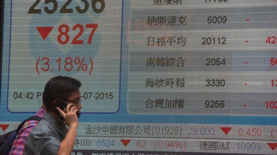 La Bolsa de Hong Kong remonta y sube un 0,7 % a media sesión