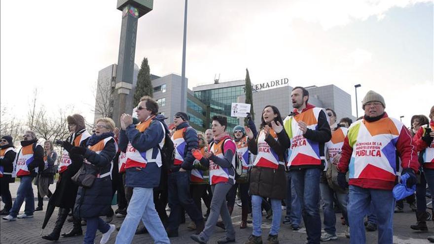 Trabajadores de Telemadrid explican sus demandas en el Parlamento Europeo