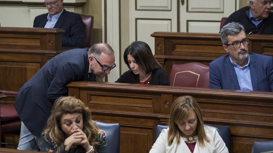 Bancada de Coalición Canaria durante el Debate del Estado de la Nacionalidad Canaria