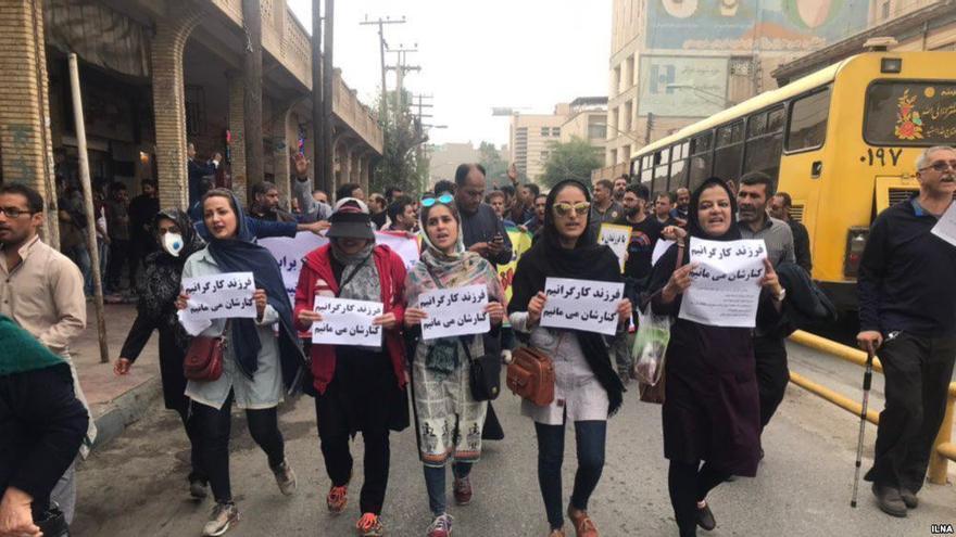 Manifestación por la situación de los trabajadores del acero en Ahvaz © Iranian Labour News Agency