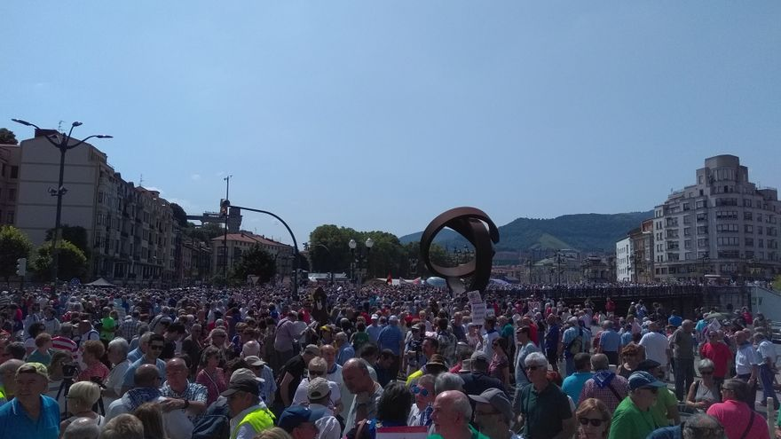 Pensionistas toman Bilbao