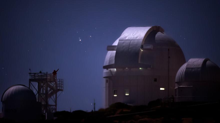El Instituto de Astrofísica de Canarias muestra las espectaculares fotos que captó de la histórica superconjunción de Júpiter y Saturno