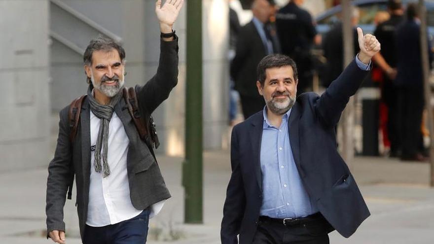 Jordi Cuixart y jordi Sánchez en una imagen de archivo