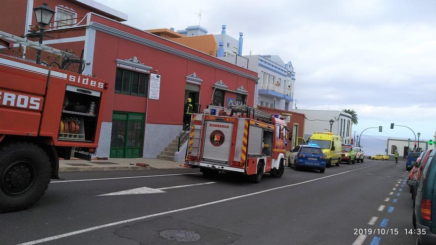 Imagen del operativo de emergencia.