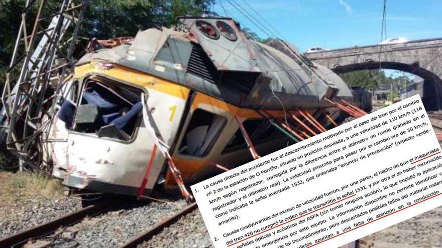 Conclusiones de la investigación del accidente de O Porriño (Pontevedra)