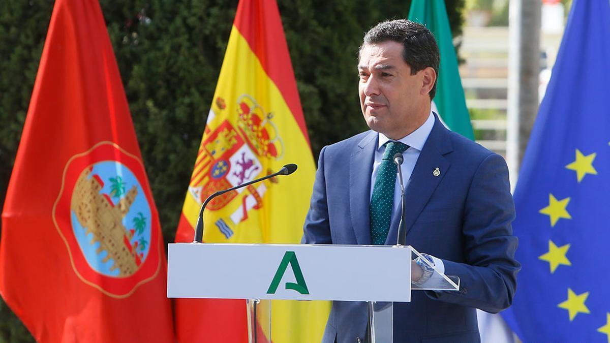 El presidente de la Junta, Juanma Moreno, en Córdoba.