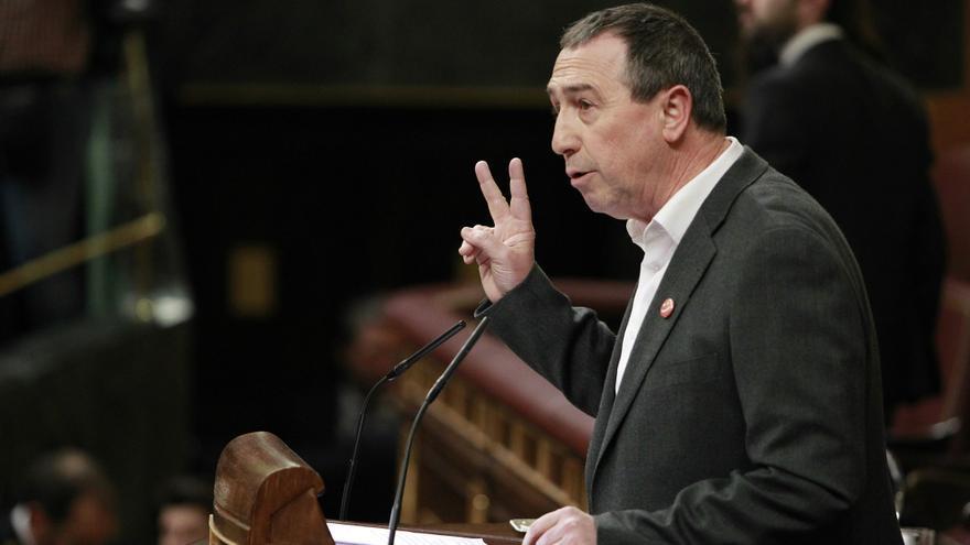 El portavoz parlamentario de Compromís, Joan Baldoví, en la sesión de investidura del 2 de marzo.