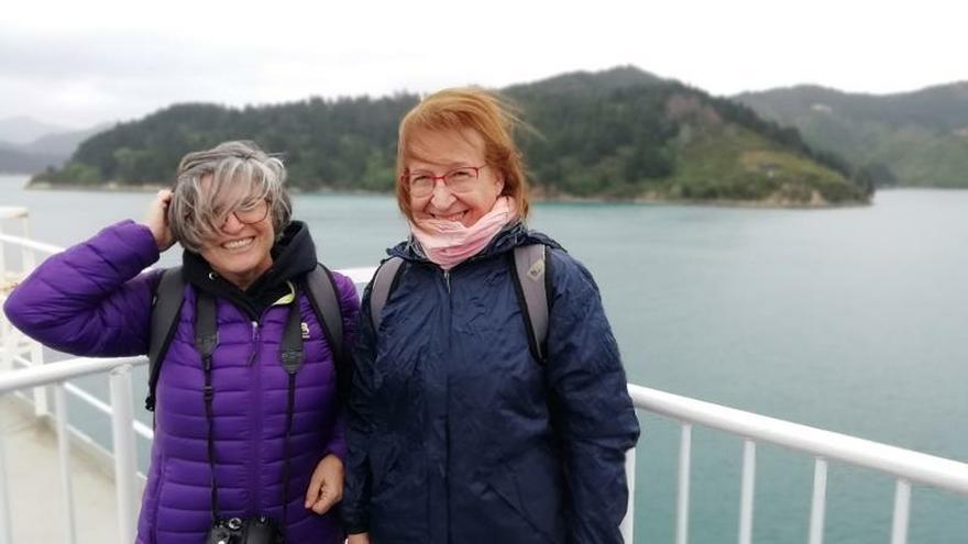 """Dos viajeras gaditanas en Nueva Zelanda: """"Estamos como en una montaña rusa"""""""