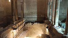 Las humedades de la iglesia de Santa Eulalia sacan a la luz tesoros del subsuelo de Toledo