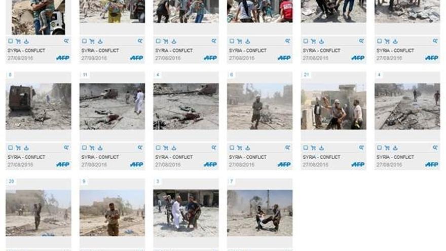 Fotogalería de imágenes de AFP del momento de las fotografías.