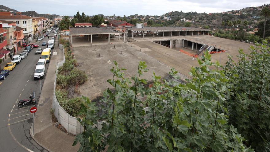 Vista de las obras paralizadas del centro comercial de Santa Brígida