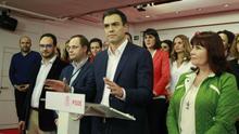 Pedro Sánchez, respaldado por su ejecutiva, tras conocerse los resultados del 20D
