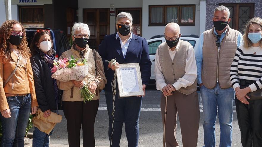 Homenaje a Antonio González Brito: primer agricultor de Mercadillo Municipal de Los Llanos
