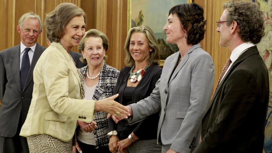 La reina apoya a la familia de Rodríguez de la Fuente por su defensa de la naturaleza