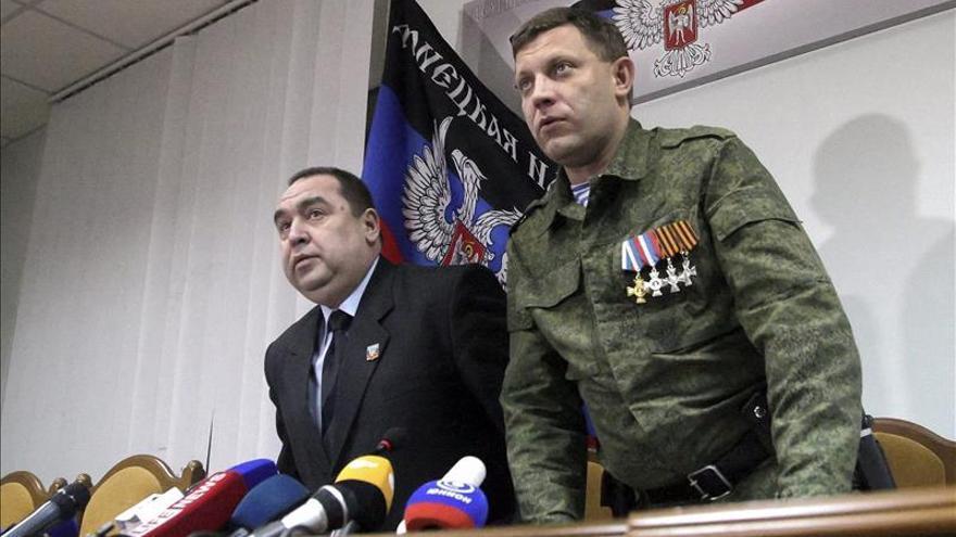 El líder separatista de Donetsk, herido de bala en un pie durante los combates en el este de Ucrania