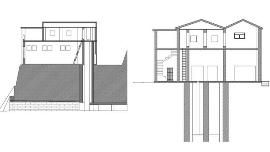 Planos de la Mina Canta elaborados por el arquitecto municipal de la Vajol