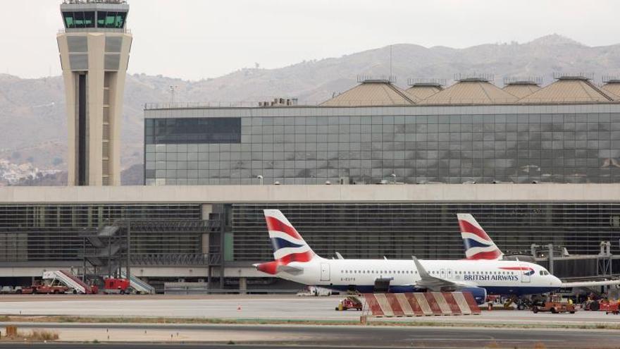 Vista de la zona de despegue del aeropuerto de Málaga-Costa del Sol.