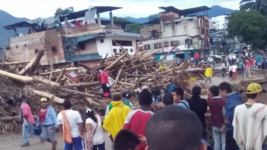 Aumentan a 42 los fallecidos en una avalancha en la ciudad colombiana de Mocoa