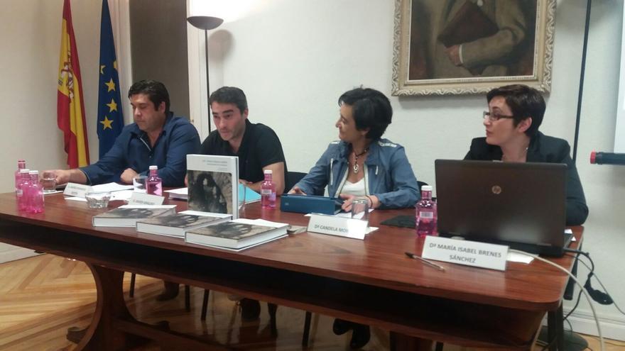 Andrés Fernández, Javier Giráldez, Candela Mora y Maribel Brenes, en la Fundación Fernando de los Ríos.