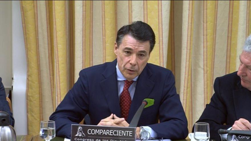 Ignacio González, durante su comparecencia en el Congreso.