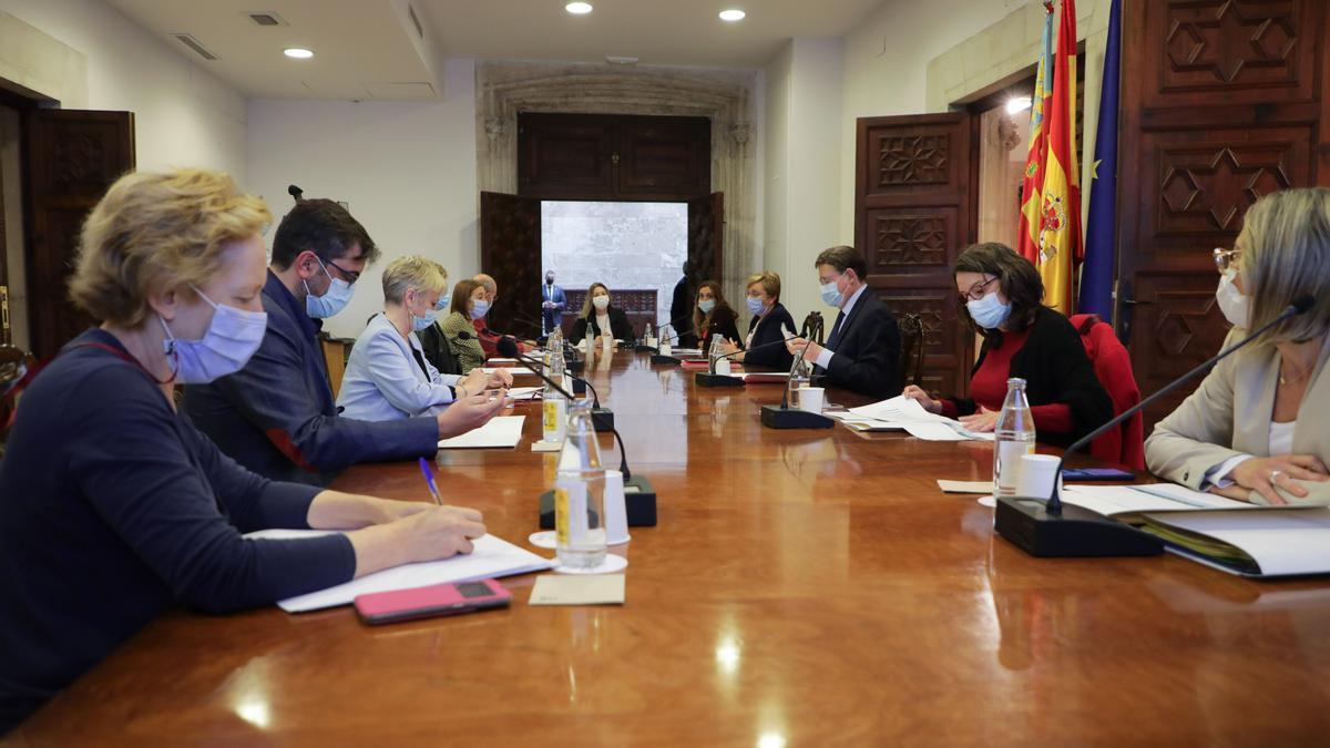 Un momento de la reunión de la comisión de seguimiento del proceso de vacunación.