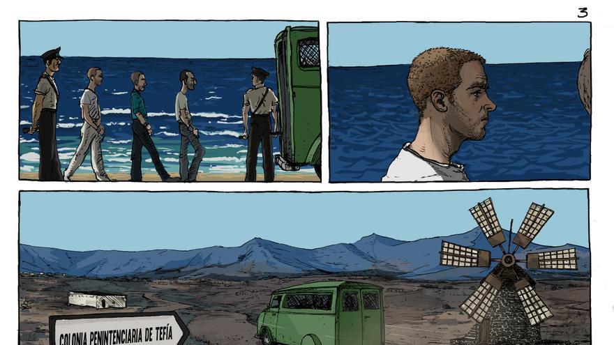 Una de las páginas del cómic 'El Violeta'