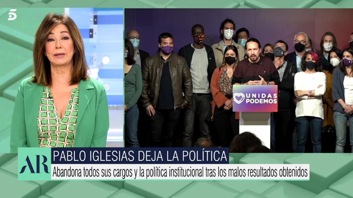 Ana Rosa, durante su speech inicial en 'El programa de Ana Rosa'