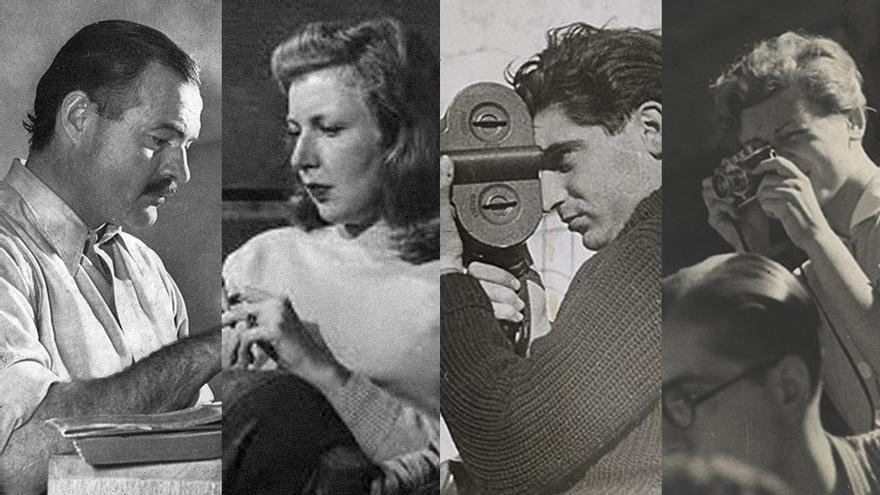 Hemingway, Gellhorn, Capa y Taro