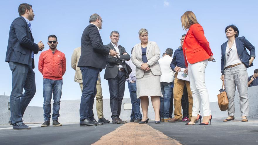 Un momento de la visita de Fernando Clavijo a Los Llanos.