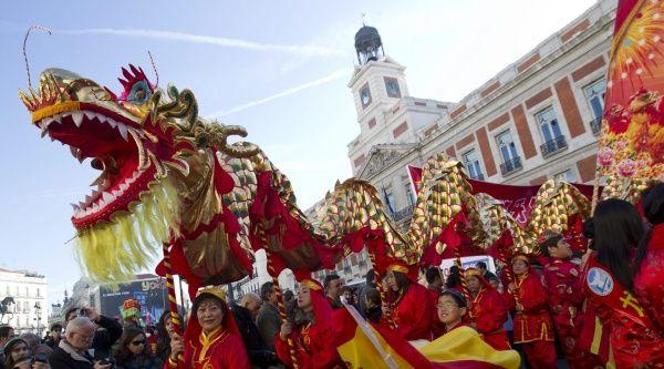 Celebración el año pasado del Año Nuevo Chino en Madrid