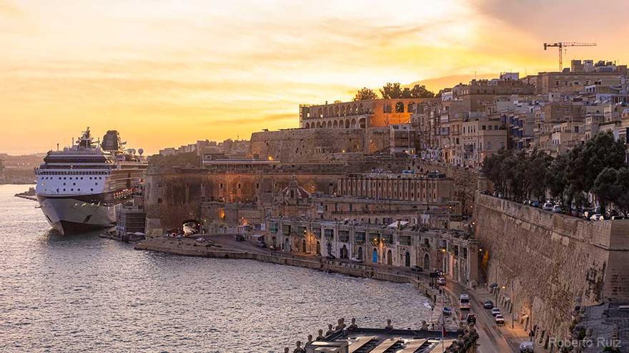 La ciudad de La Valletta (Malta) recibe un alto número de visitantes, incluidos cruceros.