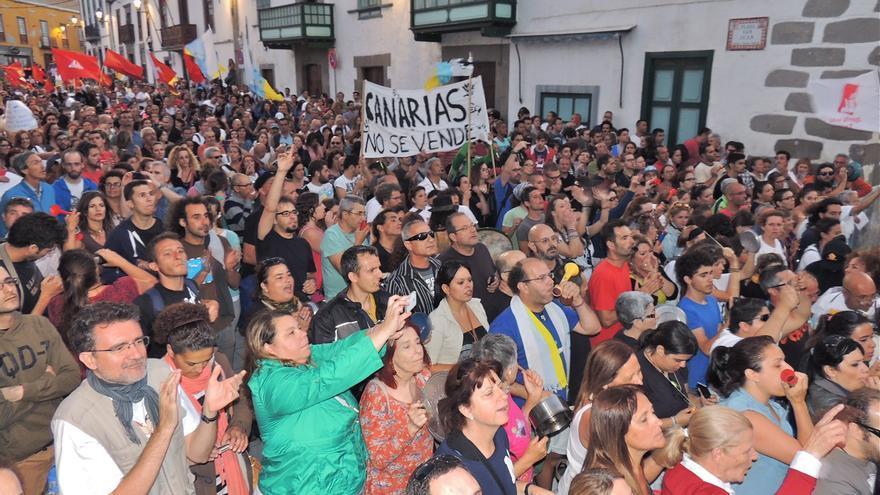 Manifestación en el pregón de Soria