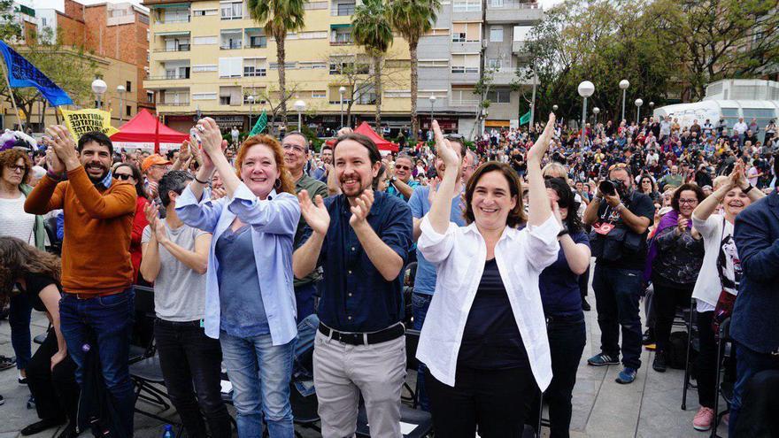 Acto de Barcelona en Comú con Pablo Iglesias