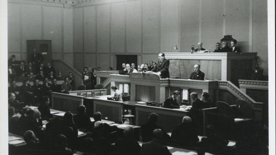 Discurso de Juan Negrín ante la Sociedad de Naciones.