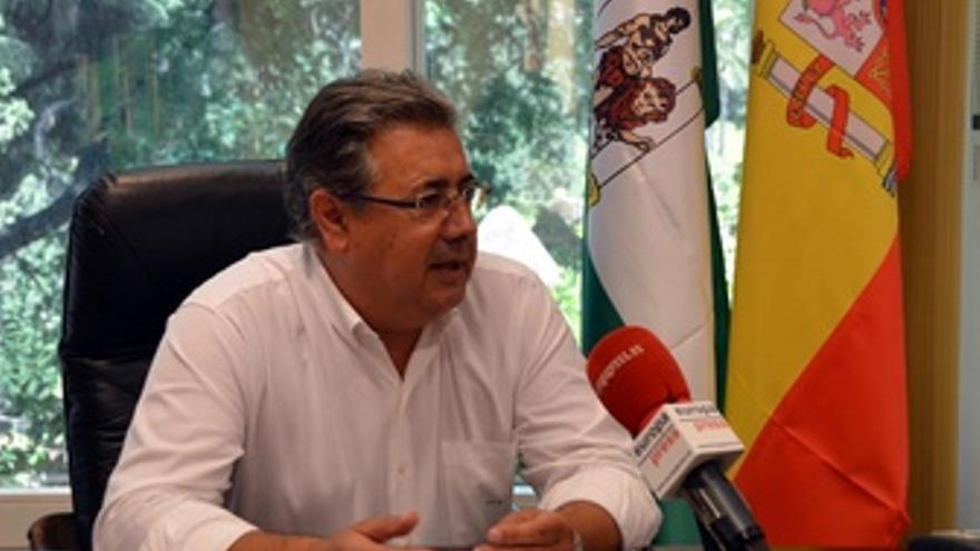 Juan Ignacio Zoido, durante la entrevista con Europa Press