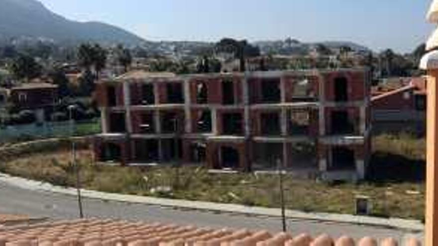 Vista de la urbanización a medio acabar denominada La Siesta, en Denia