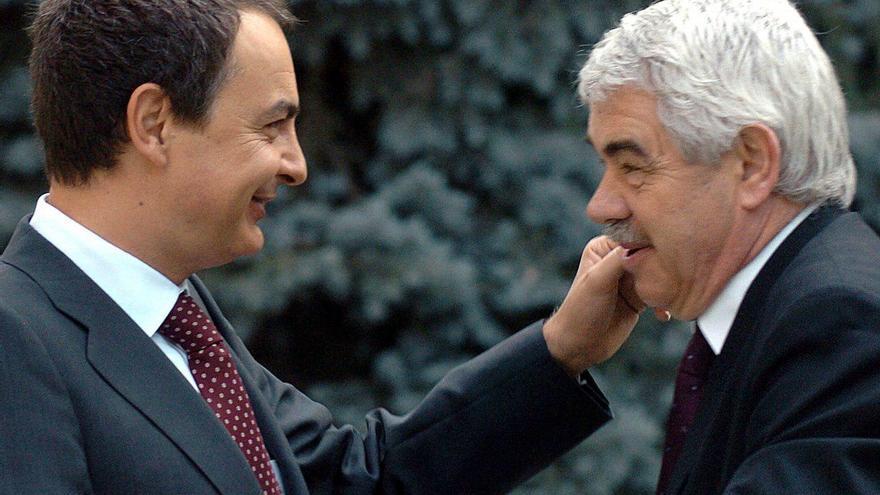 El presidente Zapatero recibe a Pasqual Maragall en junio 2006, tras el referéndum del Estatut