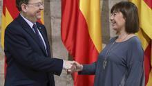 Ximo Puig, presidente de la Generalitat Valenciana, y Francina Armengol, presidenta del Govern balear