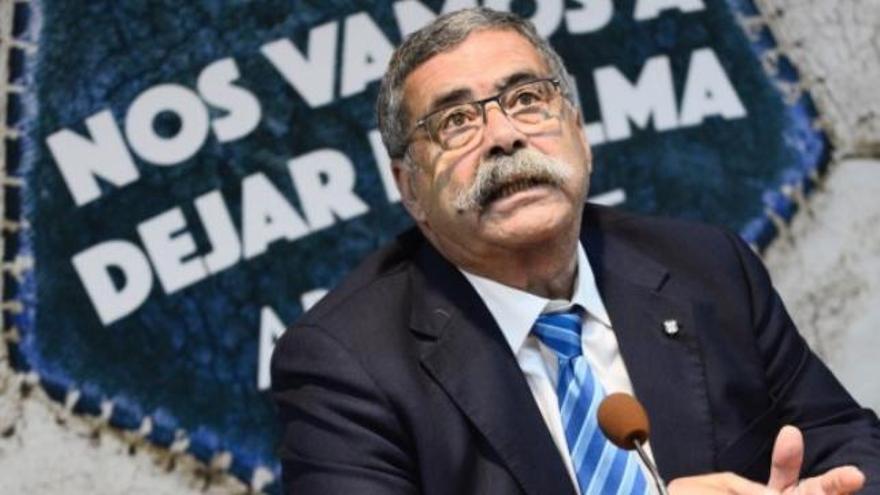 Pedro Rodríguez Zaragoza en su presentación como director general del Tenerife