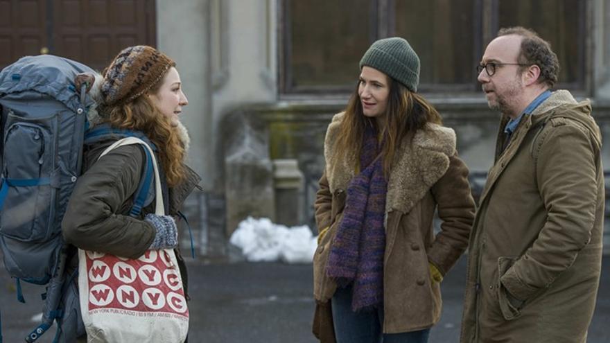 Kathryn Hahn y Paul Giamatti en 'Vida privada', de Netflix
