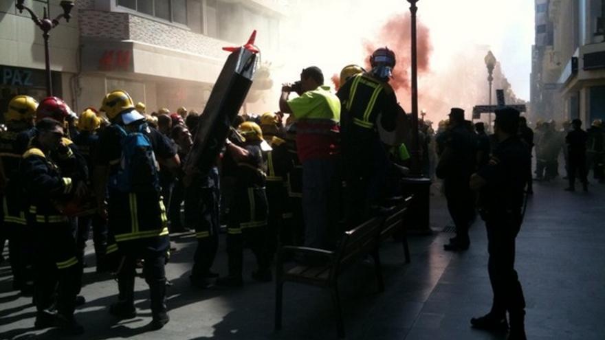 De las protesta de los bomberos #7