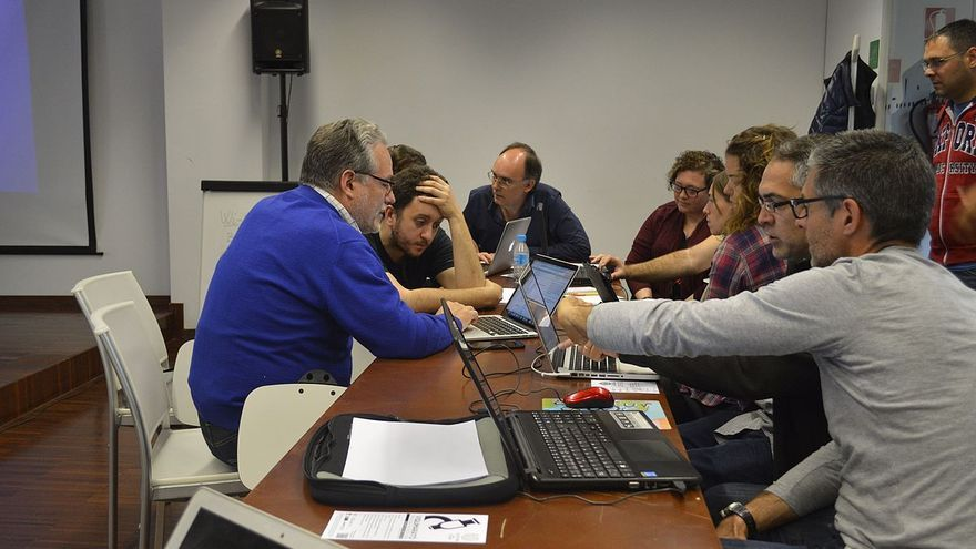 Una trobada de Viquipedistes feta a València.
