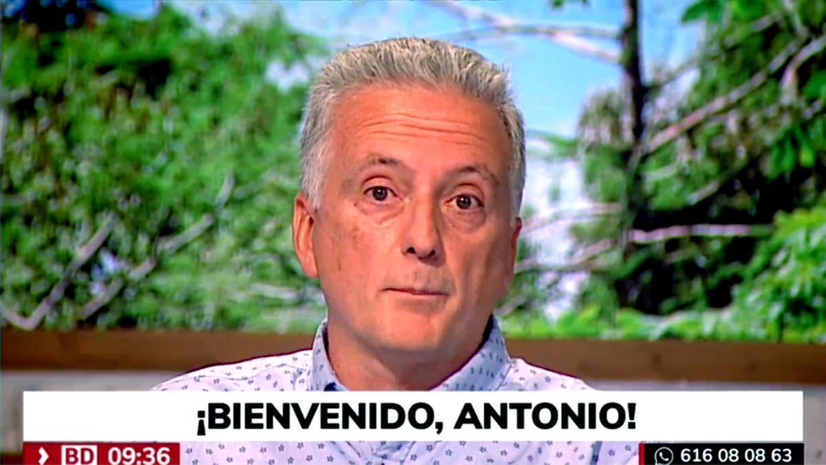 Antonio López, de vuelta a Telemadrid después de cuatro meses