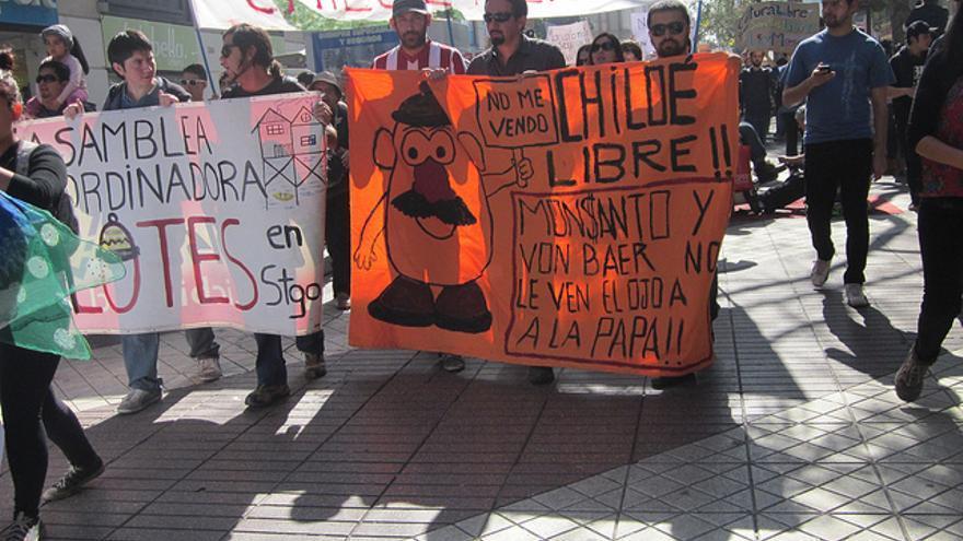 Manifestación en Chile contra la Ley Monsanto/Flikr (Mapuexpress)