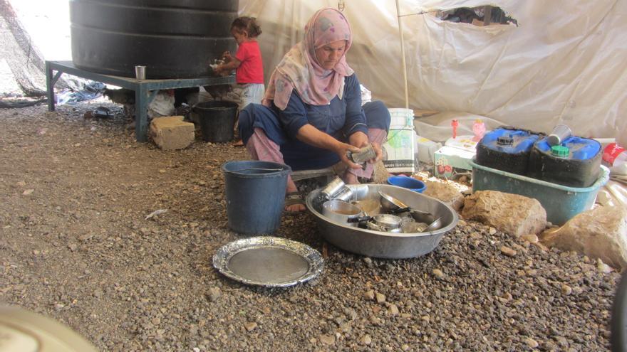 Palestinos del valle del Jordán sin red de saneamiento ni agua corriente/ Fotografía: Atef Abu a-Rub-B'tselem.
